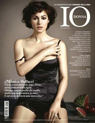 Dojrzała i piękna Monica Bellucci w magazynie IoDonna (FOTO)
