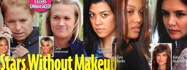 Gwiazdy bez makijażu straszą (FOTO)