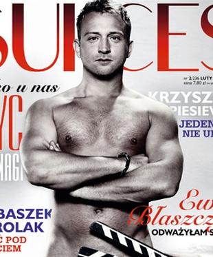 Borys Szyc nagi na okładce Sukcesu (FOTO)
