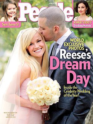 Ślubne zdjęcie Reese Witherspoon na okładce People (FOTO)