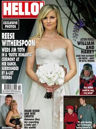 Reese Witherspoon – ślubne zdjęcie na okładce Hello! (FOTO)