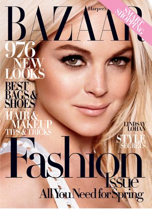 Lindsay Lohan na okładce marcowego Harper's Bazaar