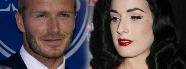 David Beckham esemesuje z Ditą Von Teese