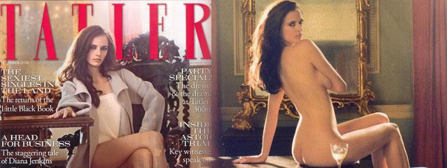 Eva Green naga w magazynie Tatler