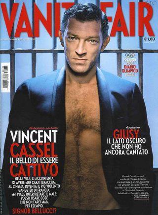 Vincent Cassel w Vanity Fair