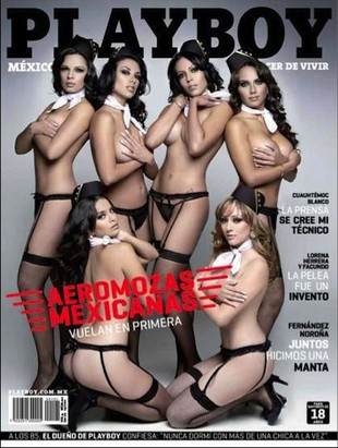 Seksowne stewardessy na okładce Playboya (FOTO)
