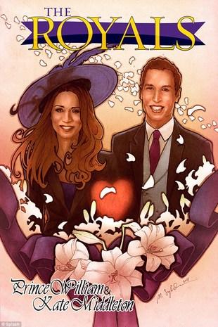 Komiks o miłości księcia Williama i Kate Middleton (FOTO)