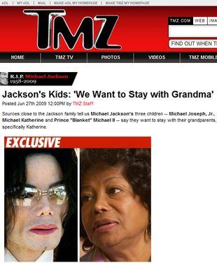 Dzieci Jacksona chcą zostać z babcią