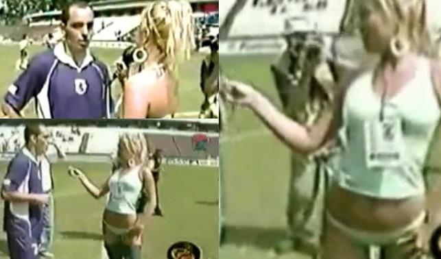 Reporterka poprosiła tenisistę o autograf na pupie (VIDEO)