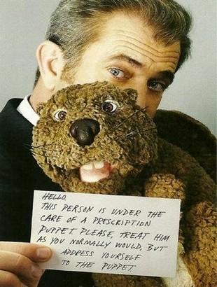 Mel Gibson i jego Bóbr (VIDEO)