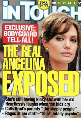 Angelina Jolie - fanka masturbacji i fetyszystka