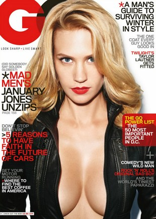 Leżąca na drodze January Jones (FOTO)