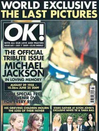 OK! opublikował zdjęcie martwego Jacksona