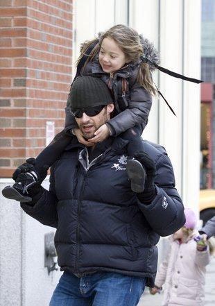 Hugh Jackman z córeczką (FOTO)
