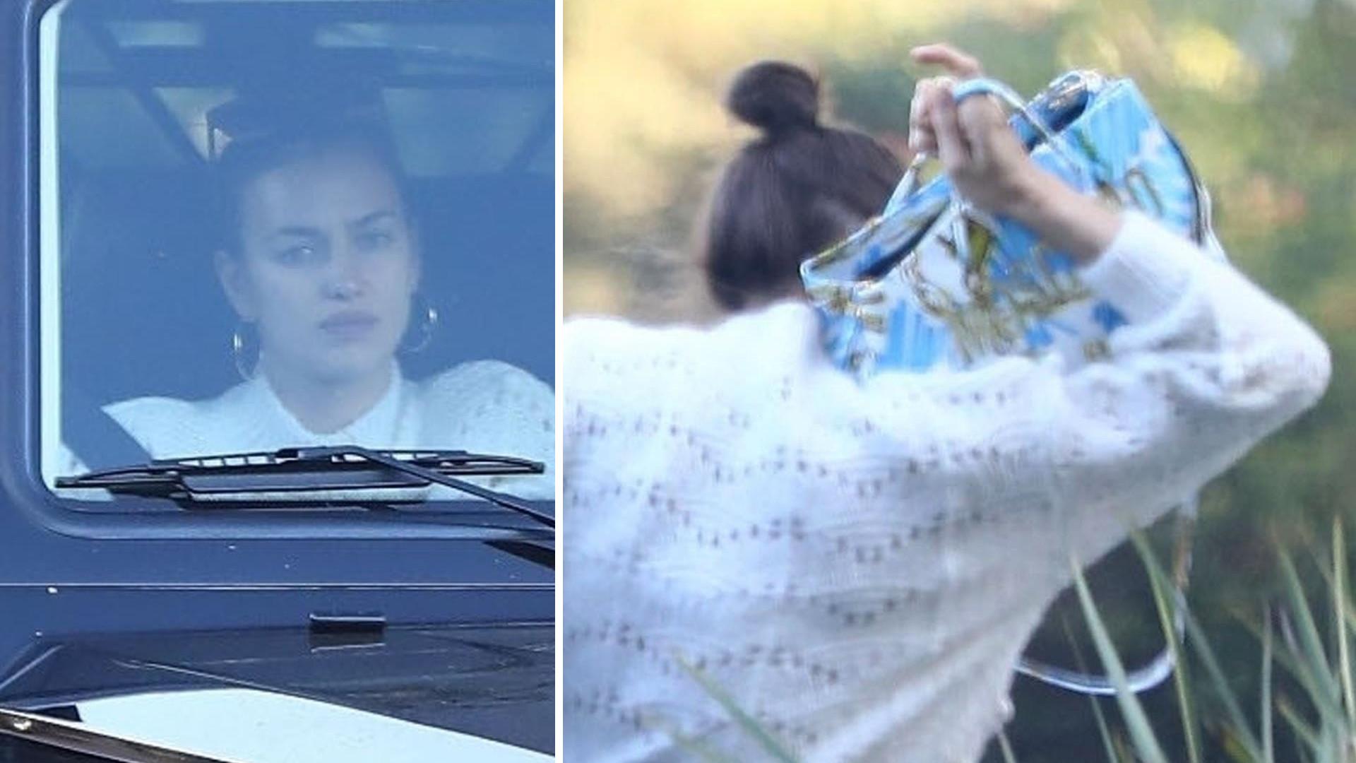 Pochmurna Irina Shayk chowa się przed paparazzi (ZDJĘCIA)