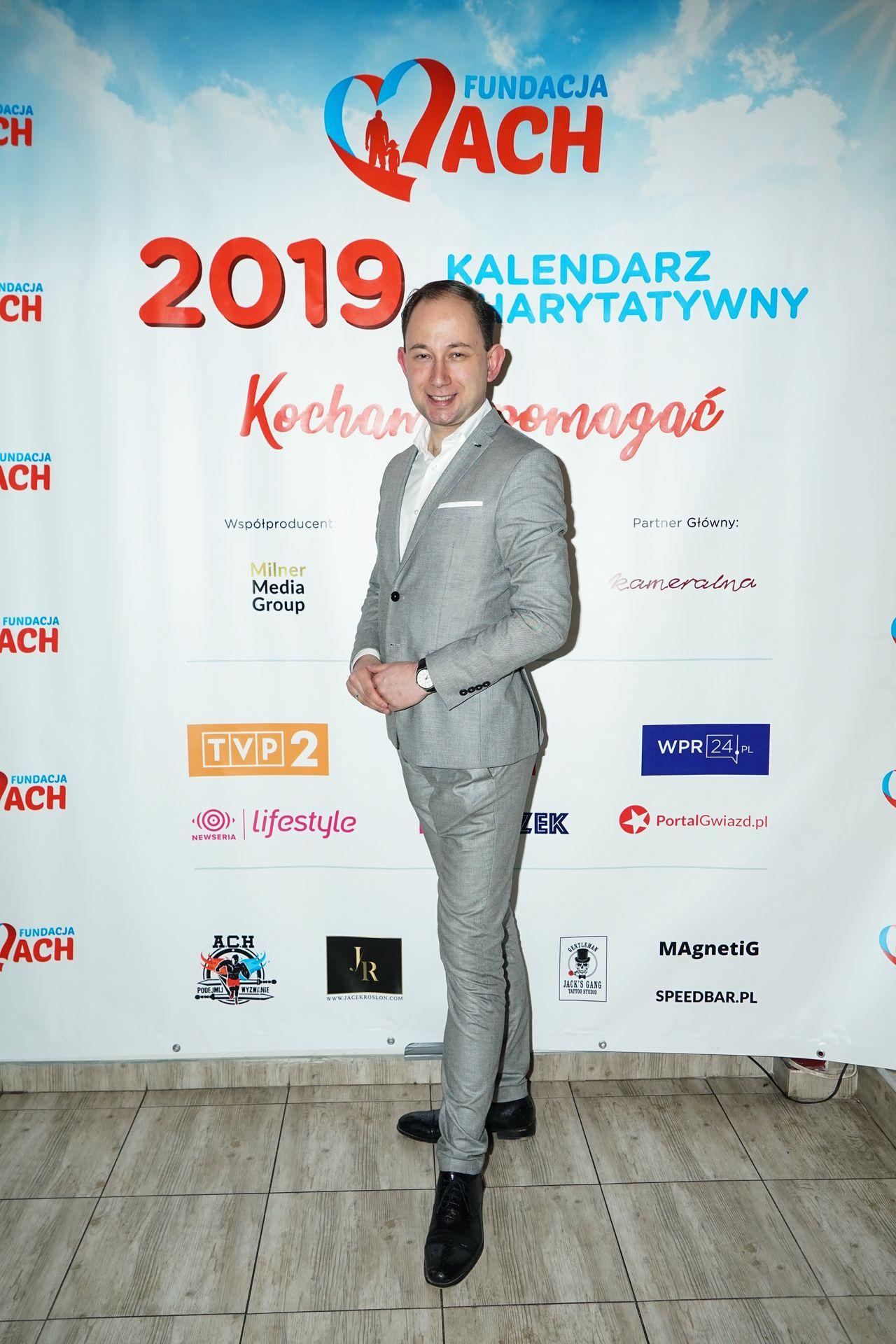 Jarosław Milner na prezentacji kalendarza charytatywnego