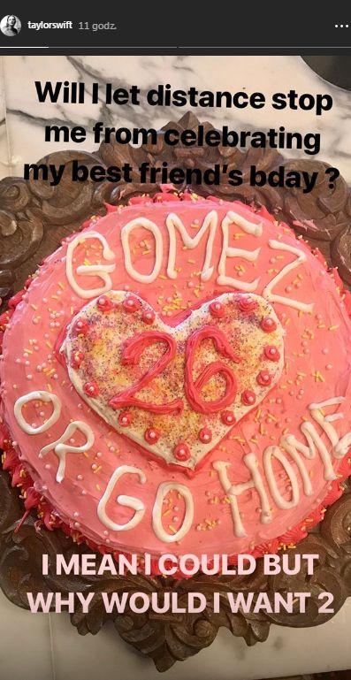 Taylor Swift zrobiła Selenie urodzinową niespodziankę