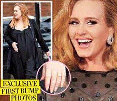 Adele z ciążowym brzuszkiem (FOTO)