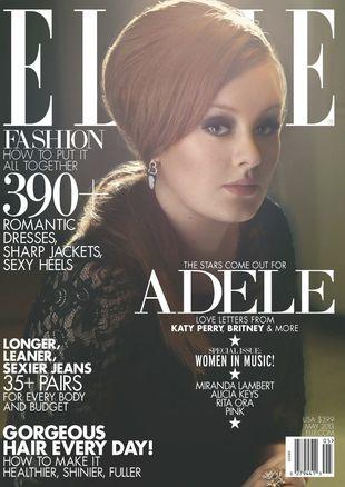 Adele na okładce Elle (FOTO)