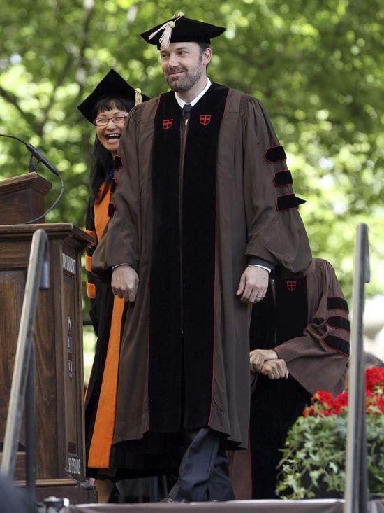 Ben Affleck otrzymał tytuł doktora honoris causa (FOTO)