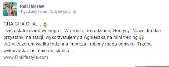 Nie uwierzycie, gdzie Rafa� Ma�lak zabra� Kaczorowsk� (FOTO)