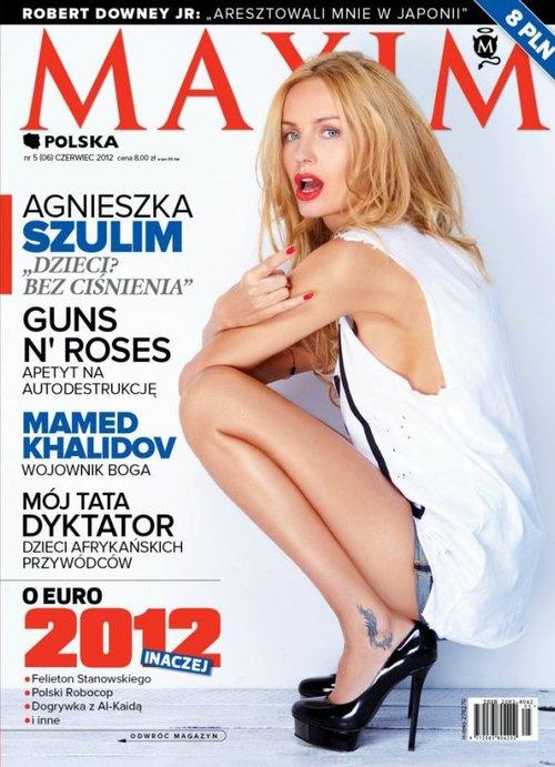 Agnieszka Szulim pokazuje rogi na okładce Maxima (FOTO)