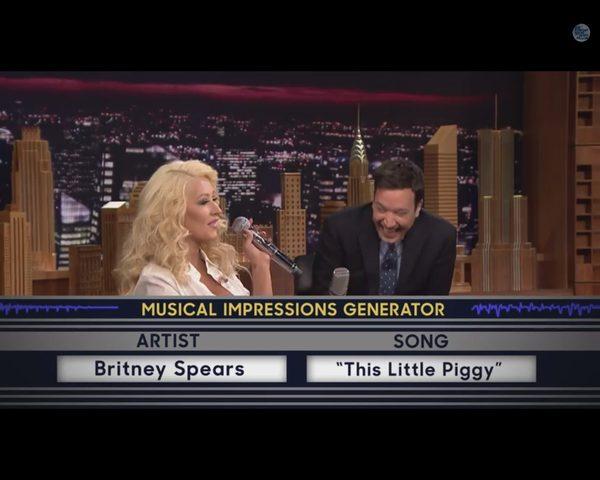 Christina Aguilera FENOMENALNIE naśladuje Britney Spears