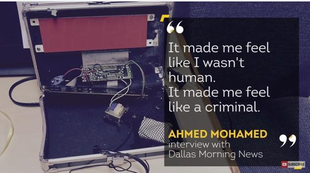 14-letni muzułmanin Ahmed Mohamed aresztowany za... zegar