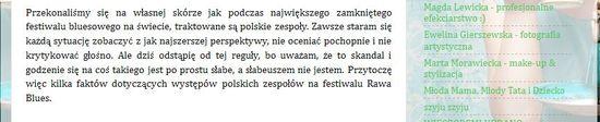 Janosz o jednym z festiwali: Zimno, nie było nawet herbaty