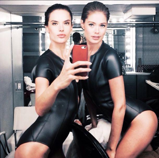 Alessandra Ambrosio i Doutzen Kroes nie boją się wyzwań FOTO