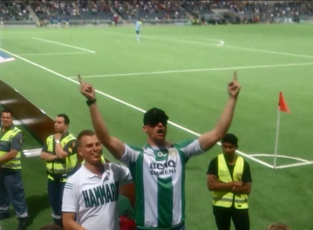 Alexander Skarsgard upił się na meczu piłki nożnej  (VIDEO)