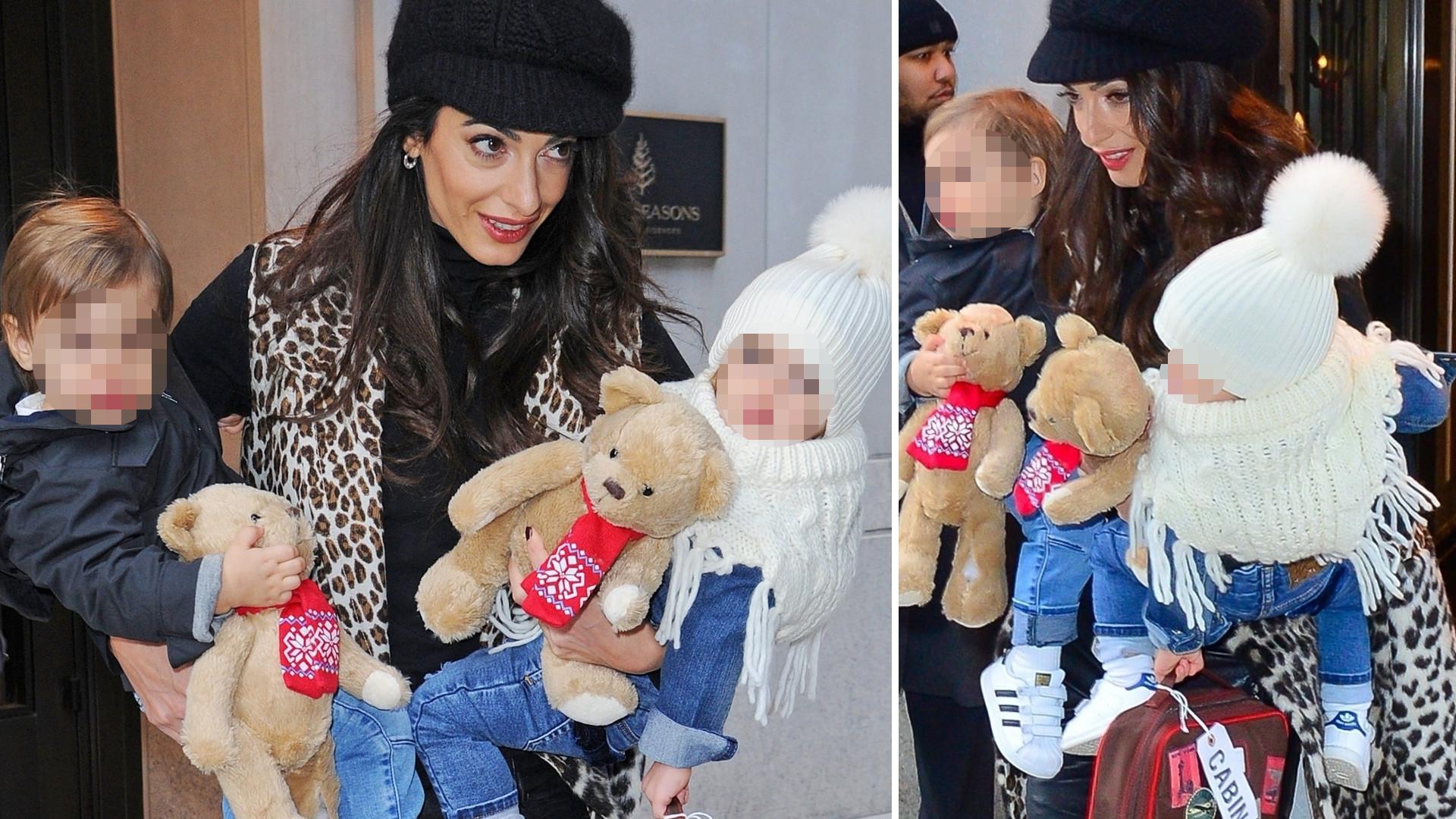 Amal Clooney z Ellą i Alexandrem – dzieci George'a są już takie duże! (ZDJĘCIA)
