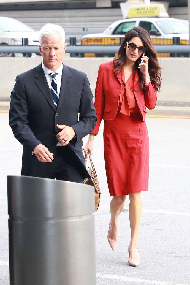Amal Clooney wróciła do pracy w wielkim stylu (ZDJĘCIA)