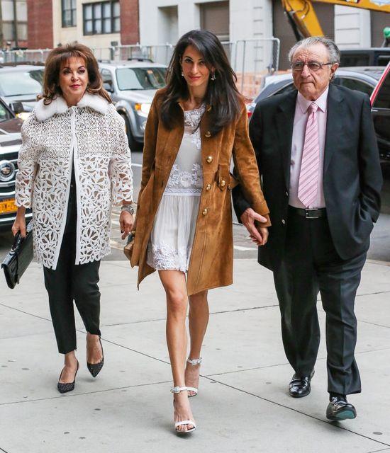 Amal Alamuddin wolny czas spędza z rodzicami (FOTO)
