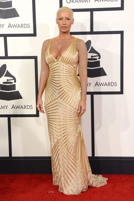 Plejada gwiazd na rozdaniu nagród Grammy (FOTO) amber rose grammy 2014