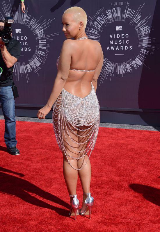 Prawie naga Amber Rose na MTV VMA 2014 (FOTO)