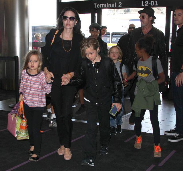 Rodzina Angeliny Jolie w komplecie (FOTO)