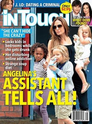 Dzieci Jolie i Pitta jedzą śmieciowe jedzenie