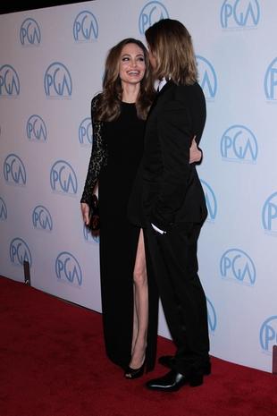 Czułości Angeliny i Brada na gali SAG Awards