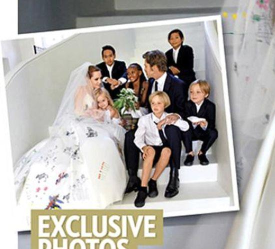Córka Angeliny na ślubie rodziców wystąpiła w garniturze