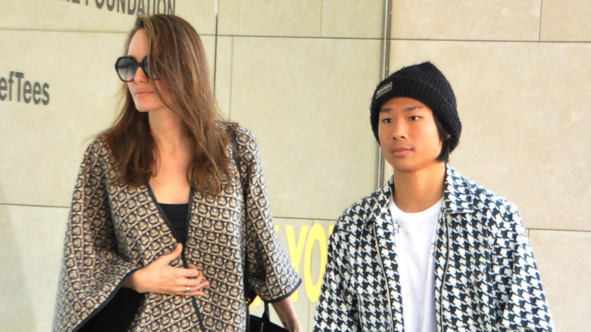 15-letni Pax, syn Jolie i Pitta na zakupach z matką (ZDJĘCIA)