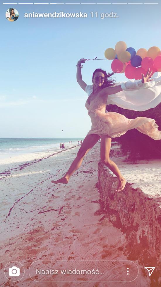 Ania Wendzikowska z córką i partnerem witała nowy rok w raju (Instagram)