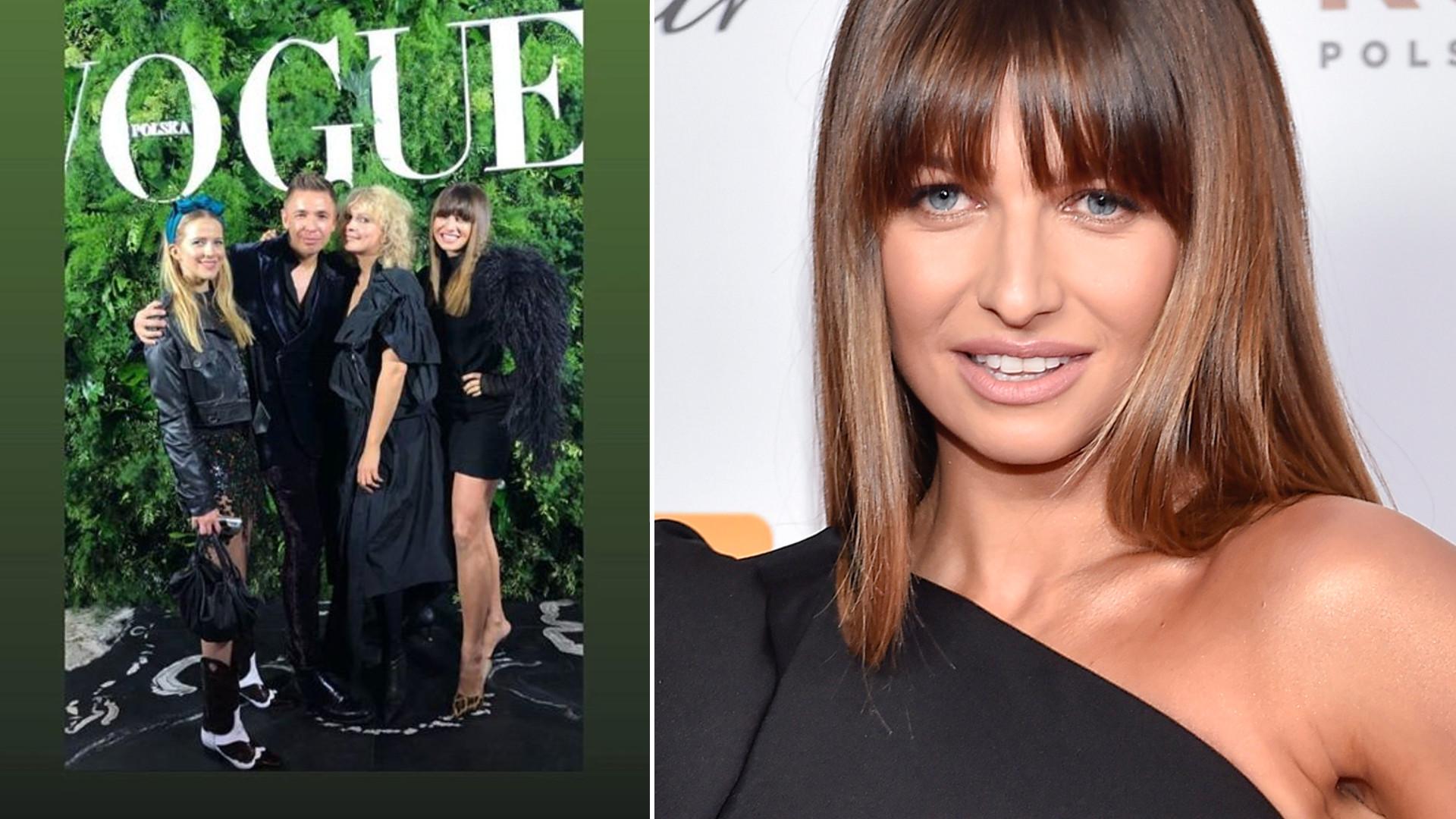 Anna Lewandowska w seksownej mini z piórami na imprezie polskiego Vogue