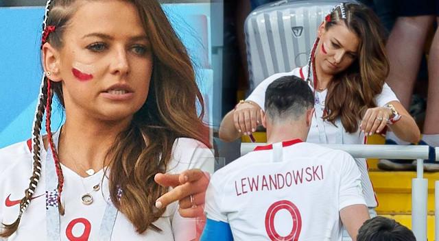 Anna Lewandowska bez Photoshopa i filtrów - tak wyglądała na trybunach