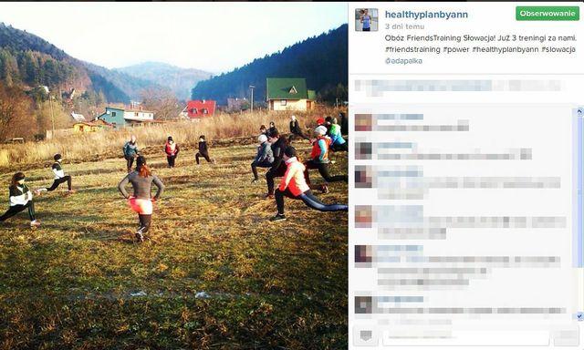 Lewandowska udowadnia, że z nią też trenują tłumy FOTO+VIDEO