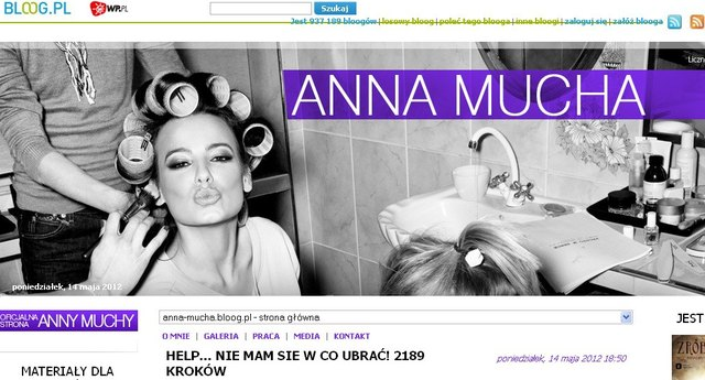 Anna Mucha nie wiedzia�a, w co si� ubra� do Majewskiego