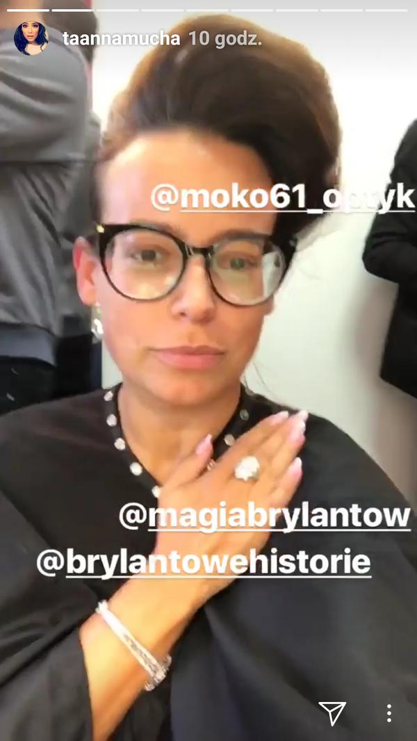 Anna Mucha: Chwilowo nie mogę nosić szkieł kontaktowych (Instagram)