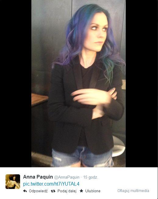 Anna Paquin przefarbowała włosy na odważny kolor (FOTO)