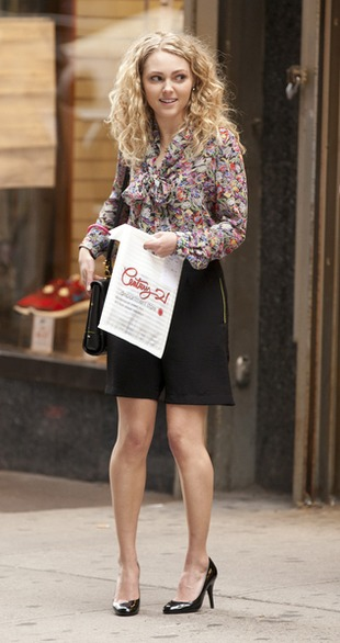 AnnaSophia Robb na planie The Carrie Diaries (FOTO)