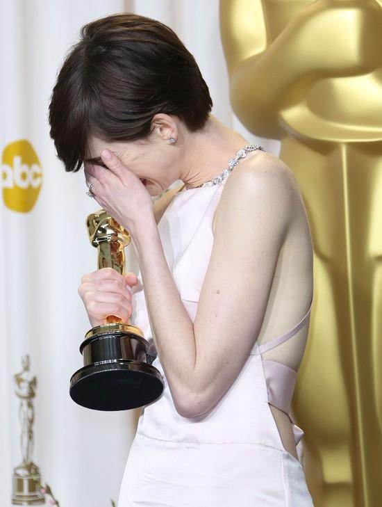 Anne Hathaway ćwiczyła przemowę wiele razy bo chce być lubia
